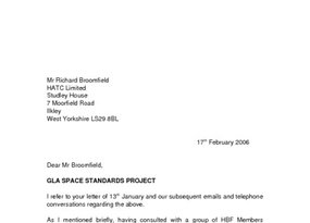 GLA Space Standards Research Response February 2006