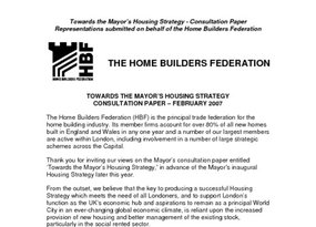 FINAL HBF Response Towards Mayors Housing Strategy February 2007