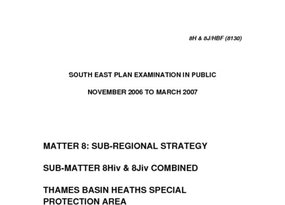 SE Plan EIP Matter 8Hiv and 8Jiv Supplementary March 2007