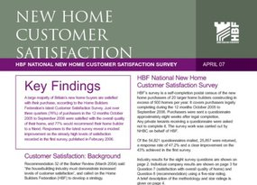 HBF Customer Satisfaction Survey Results 2April07FINAL
