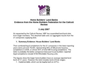 Report to John Callcutt re Land Banking FINAL 3 July 2007