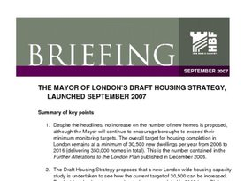Mayor s Housing Strategy Sept 2007 01