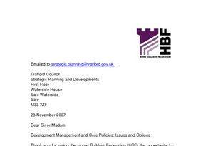 Trafford Development Management and Core Policies Issues and Options November 2007