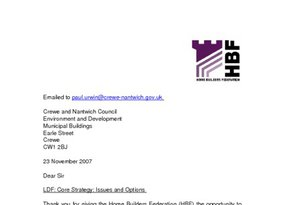 Crewe and Nantwich Core Strategy Issues and Options November 2007