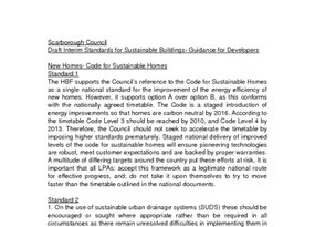 Scarborough Interim Standards for Sustainable Buildings December 2007