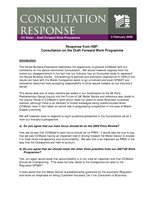 HBF Response - CCWater - the draft forward work programme - 5 February 2008