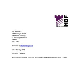 Leeds New Informal Interim Policy on Housing Mix and Affordable Housing Targets February 2008