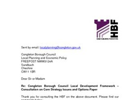 Congleton Core Strategy  Isssues   Options March 2008