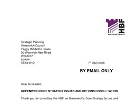 Greenwich Core Strategy Issues   Options April 2008