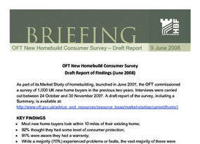 HBF Briefing - OFT homebuild Survey - Draft Report HBF Note - 10 June 2008