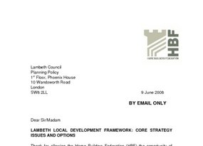 Lambeth Core Strategy Issues and Options - 9 June 2008
