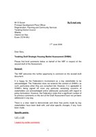 Tendring SHMA Letter - June 2008