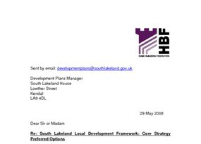 South Lakeland Core Strategy  Pref Options May 2008