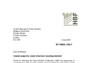 Tower Hamlets Core Strategy Scoping Report - 3 July 2008