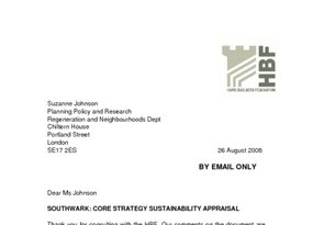 Southwark Core Strategy Sustainability Appraisal - 26 August 2008