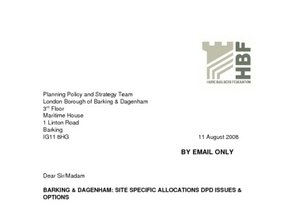 Barking   Dagenham Site Allocations DPD Issues   Options - 11 Aug 2008