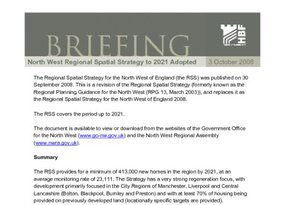 HBF Briefing - The Regional Spatial Strategy for the North West of England