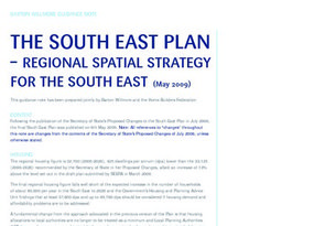 HBF South East Plan 2009 - Regional Spatial Strategy