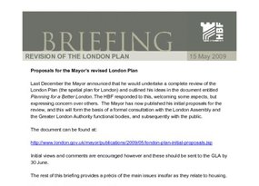 Member Briefing - a new plan for london - 15 May 2009