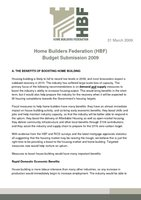 HBF Budget Submission 2009 - 31 March 2009