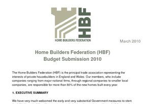 HBF Budget Submission 2010 - March 2010