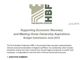 HBF Budget Submission -Supporting Economic Recovery  - June 2010