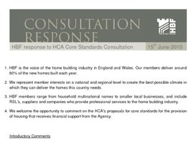 HBF response - HCA Core Housing Design and sustainability standards Consultation -15.06.10