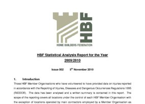HBF Stats Analysis Report 2009 - 2010  Rev 002   05 11 10