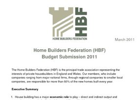 HBF Budget Submission 2011 - March 2011
