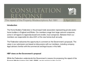 HBF response - the repeal of the property misdescriptions act 1991 - 5 April 2011