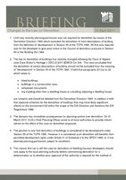Member Briefing -Changes to the Law on Demolition-14-April-2011