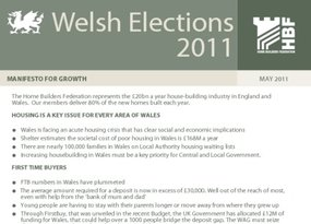 Welsh Election   Manifesto for Growth - May 2011 - BULLETS