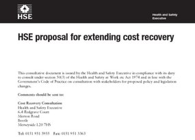 15. AOB. HSE proposal for extending cost recovery