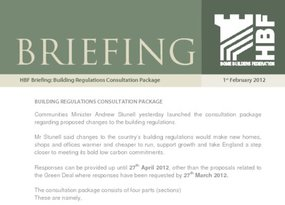 BUILDING REGULATIONS CONSULTATION PACKAGE