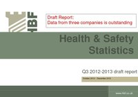 Health and Safety Q3 2012 2013 results DRAFT