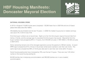 Doncaster Mayoral Election  2 nd