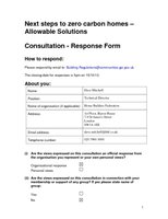 130806  Allowable solutions - Response Form