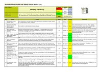 HBF Health and Safety Forum meeting - Action log - 13th June 2014