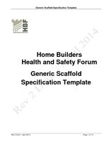 Scaffold Specification Rev 2 Draft June 2014