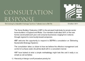 HBF Response - Delivering Sustainable Drainage Systems to DEFRA Oct-2014