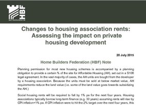 Changes to housing association rents HBF Note FINAL 20 July 2015
