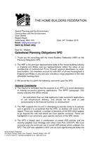 Planning Obligations SPD - HBF Oct15