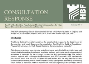HBF Consultation response - New Part R of the Building Regulations - Jan 2016