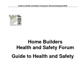 Health and Safety Training for Directly Employed Staff - Rev 1 11th June 2013