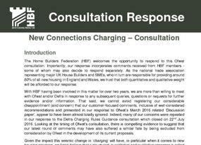 HBF Response - New Connections Charging