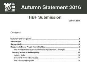 HBF Submission - Autumn Statement 2016