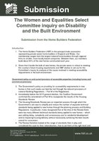 The Women and Equalities Select Committee inquiry on Disability and the Built Environment