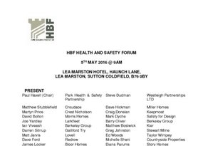HBF Health and Safety meeting notes - 5 May  01