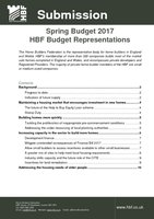HBF Budget Submission Spring 2017