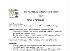 HBF Traffic Management Working Group Terms Of Reference